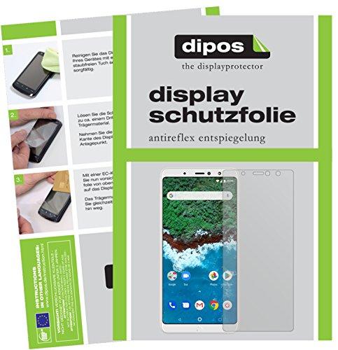 dipos I 2X Schutzfolie matt passend für BQ Aquaris X2 Pro Folie Bildschirmschutzfolie