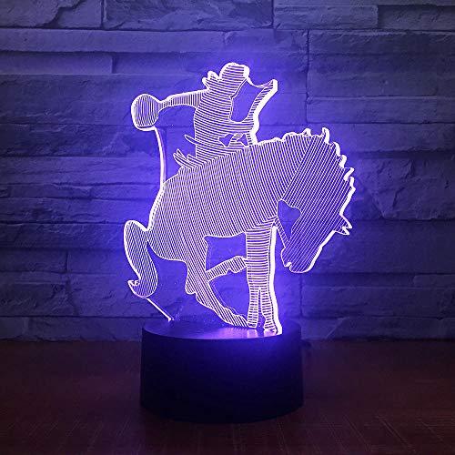 Nachtlicht Ein Pferd Trainer Dressur 3D 7 Farbe Lampe Visuelle Led Nachtlichter Für Kinder Touch Usb Tisch Lampara Lampe -