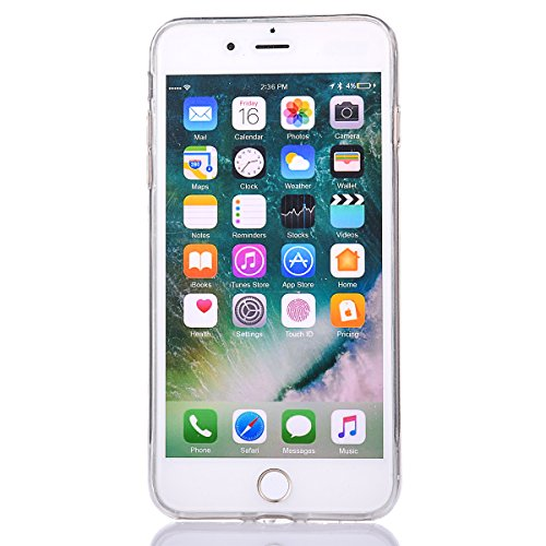 """iPhone 7 Handyhülle, iPhone 7 Liquid TPU Case, CLTPY Kreativ 3D Fließen Flüssig Bling Schwimmend Treibsand Herz, Glanz Shiny Kristallklar Schale Etui für 4.7"""" Apple iPhone 7 + 1 x Stift - Dunkelblau Lila"""