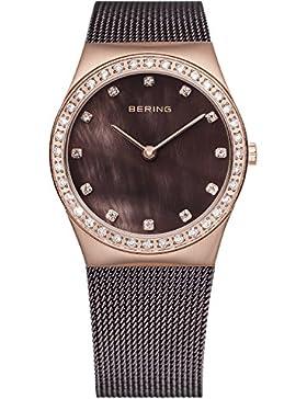 Bering Time Damen-Armbanduhr Analog Quarz Edelstahl beschichtet 12426-262