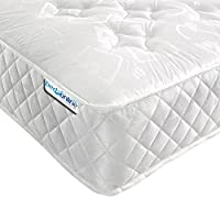 Bedzonline V Star Orthopaedic Open Coil Mattress, Fabric,,