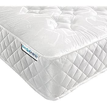 bedzonline v star orthopaedic open coil mattress fabric white double