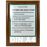 Alu Klapprahmen Holz Design DIN A4 Opti Frame®, Bilder Rahmen, Flyer Rahmen, Plakate, Menükarten, Speisekarten, Hotelinfo, Reiseführer