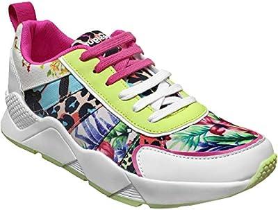 Desigual, Hydra 20SSKA18 - Zapatillas Deportivas para Mujer, Multicolor, Multicolor (Vert Jaune Multi 4013 Lima), 38 EU