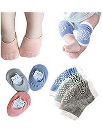 3D Cartoon Hillento Baby Anti-Slip Socks 3 Pairs Baby Socks with Grips Toddler Thick Cotton Socks Anti Slip