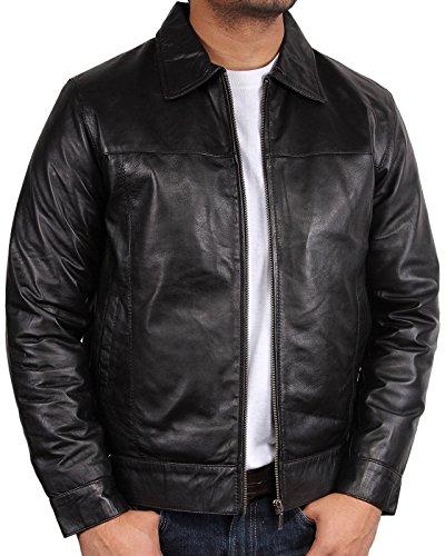 brandslock-hommes-veste-motard-cuir-de-harrington-bombardiers-medium-noir