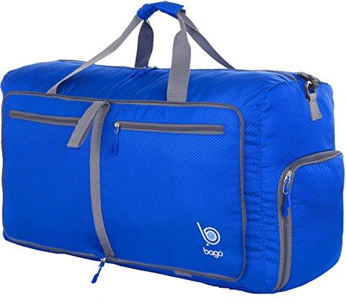Falten Sie Unten (Reisetasche - diese faltbare, 53l große Reisetasche ist beständig, packbar, SUPERLEICHTE 410g mit abnehmbarem Schulterriemen - lässt sich in sich falten - am besten als Gepäck oder Sporttasche - VERMEIDEN SIE GEBÜHREN FÜR ÜBERGEPÄCK - 100% ZUFRIEDENHEITSGARANTIE (DeepBlue))