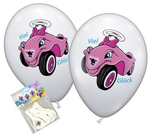 Karaloon-30040-5-Ballons-Viel-Glck-Bobby-Car-90-100-cm-Umfang-rosa