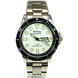 Henley Glamour Herren Armbanduhr Großes Ziffernblatt