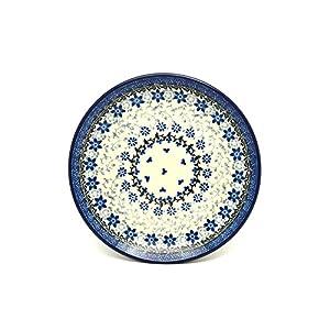 Polish Pottery Plate – Salad/Dessert (7 3/4″) – Silver Lace