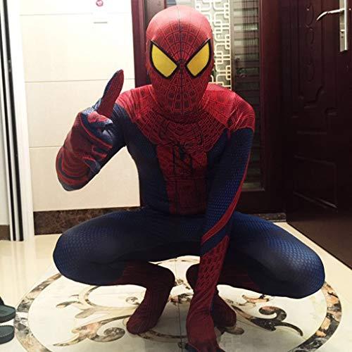 YUNMO Fun Ausrüstung Spiderman Film Cartoon Cosplay Kostüm außergewöhnliche Helden Kleidung Druckmuster super elastischer Overall (L-XXL) (Size : S) (Spiderman-ausrüstung)