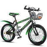 Xi Man Shop Kinderfahrrad Mountainbike Fahrrad des Jungen Mädchen Fahrrad 18〃/20〃/22〃 (Color : Green, Size : 18in)