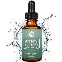 Siero di Retinolo di Bionura per la faccia con Retinol 2,5%, Vitamina C 20% e Acido Ialuronico 10% - Siero Rassodante Anti Aging di linee sottili e rughe per il Viso. 30 ml