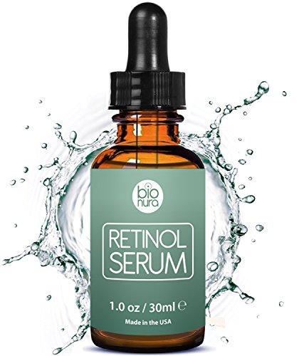 Bionura Retinol Serum - 2,5% Retinol Liefersystem mit 20% Vitamin C & Vegan Hyaluronsäure - Bestes...