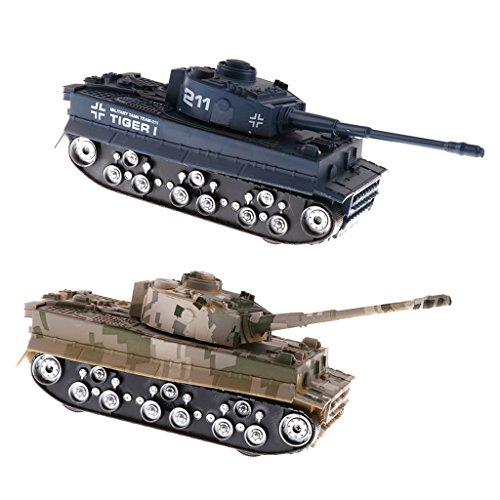 Magideal 2 pezzi 1:32 scala modello carro armato serbatoio soldato veicolo gioco bambino plastica