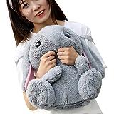 Estyle Fashion Neuware Häschen Rucksack Puppen Plüschtiere Stofftier Kuscheltier Geschenk Spielzeug Grau