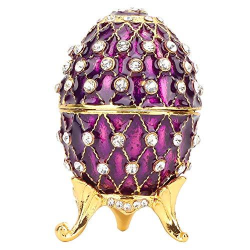 La Lavande Boîte À Bijoux en Forme D'œuf Coffret À Bijoux Fabergé Œuf De Pâques Artisanat...