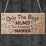 "Red Ocean ""Only The Best Mums Get Promoted To Nanna, Mothers Day ..."" Plaque, Wood, Brown"