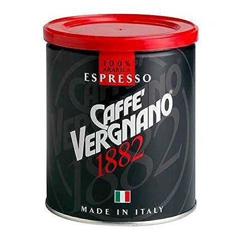 Caffè Vergnano 100 % Arabica Espresso gemahlen, 250 g Dose
