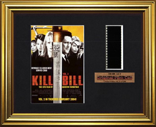 Kill Bill-Vol. 2, gerahmt, Iron-Man-Motiv, original Filmcell-Foto