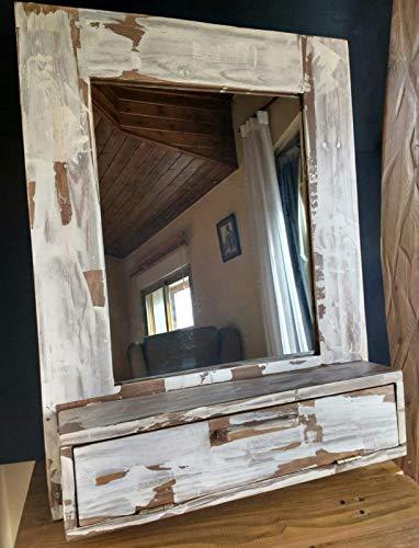 Mueble de baño, tocador vintage de madera reciclada de palet hecho a...