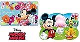 Disney: Minnie - Mickey Mouse - 2 x Tischunterlagen/Tischset/Tisch Matten/Platzdeckchen/Essunterlage/Platzset/Placemat aus Kunststoff abwaschbar - tolle Geschenkidee für Kinder M02