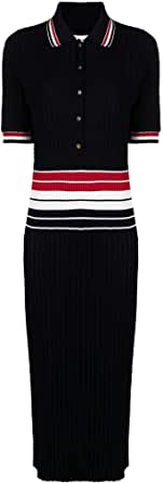 Thom Browne Luxury Fashion Donna FKD120AY3009415 Blu Cotone Vestito | Stagione Permanente