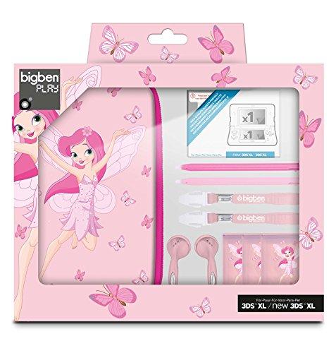 "Nintendo 3DS XL / 3DS / DSi XL - Zubehör-Set ""Fairies XL"" - rosa (farbig sortiert)"