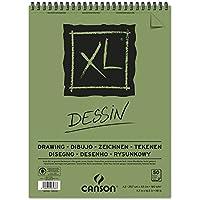 """'Canson XL Dessin–Bloc de dibujo, fácil gekörnt 160g/m2, 50hojas por bloque""""espiral en el lado más corto, color blanco, color weiß 297 x 432 mm"""