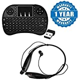 Drumstone Wireless Keyboard With Touchpad Mouse With HBS-730 Stereo Bluetooth Headset Compatible With Xiaomi, Lenovo, Apple, Samsung, Sony, Oppo, Gionee, Vivo Smartphones (One Year Warranty)