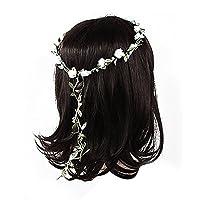 5Five Lady Girl Boho Floral Flower Festival Wedding Garland Forehead Hair Head Band 8 Colors