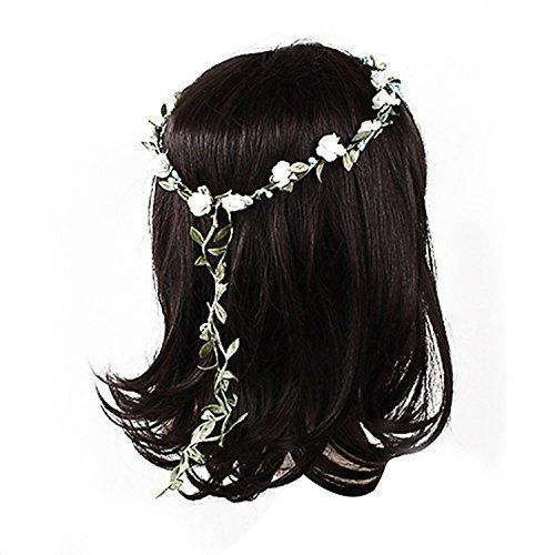 5Fünf Lady Mädchen Boho Blumen Festival Hochzeit Girlande Stirn Haar Kopf Band 8Farben