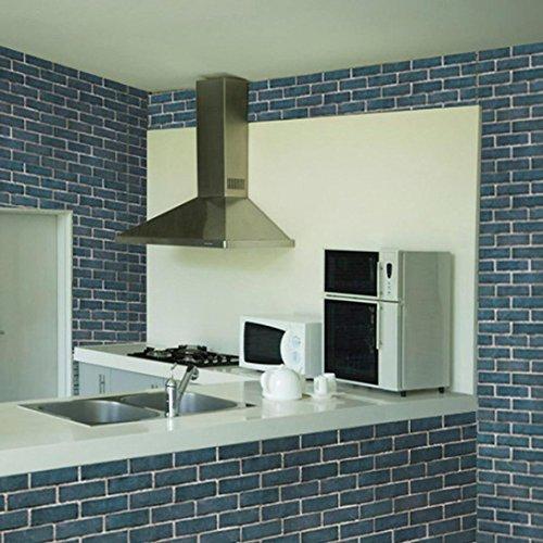 wandaufkleber wandtattoos Ronamick 3D-Tapeten Ziegel Stein rustikale Wirkung selbstklebende Wand Aufkleber Home Decor (Multicolor) Ziegel-wand-aufkleber