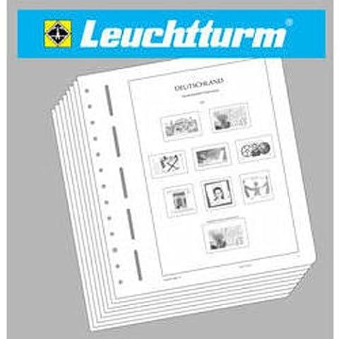 LEUCHTTURM Feuilles préimprimées Belgique timbres Colis Postaux Chemin de Fer 1999-2008