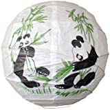 Lighting Web Panda Bamboo - Lámpara de papel (35,5 cm)