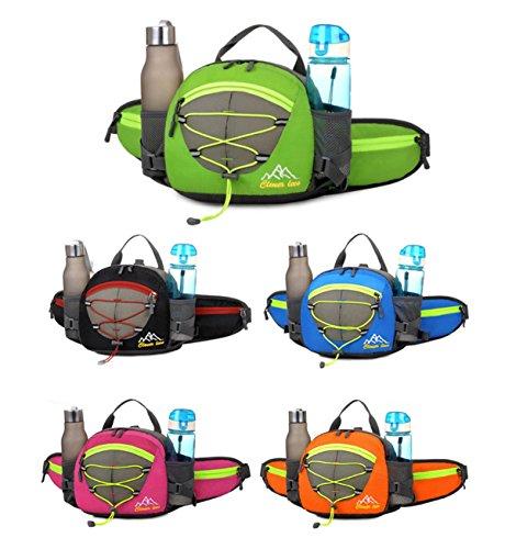 Fahrrad Tasche Handtasche Groß Kapazität Outdoor Sport multifunktional-Rucksack Wandern Bergsteigen Travel Backpack in der Taille 5 Farben H22 x l 22 x T10 cm Blue