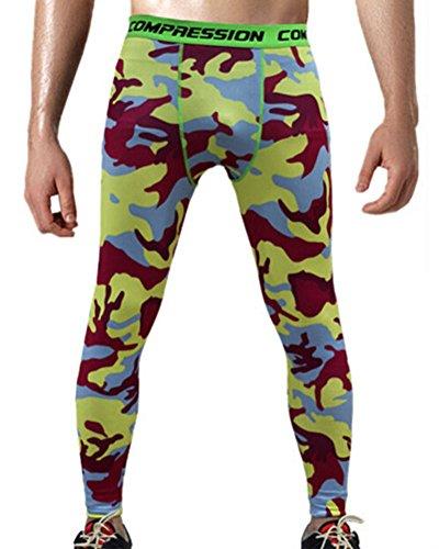 Leggings De Compresión Camuflaje Para Hombres Mallas Térmicas Runnin