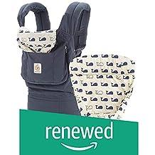 (Renewed) Ergobaby Original Multi Position Bundle of Joy with Easy Snug Infant Insert Baby Carrier (Marine)