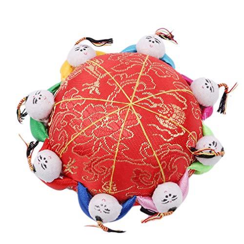 L_shop Red Cute Oriental Nadel Nadelkissen Kids Stoff beschichtet voll gepolstert Pin Lagerung mit 6 Kindern