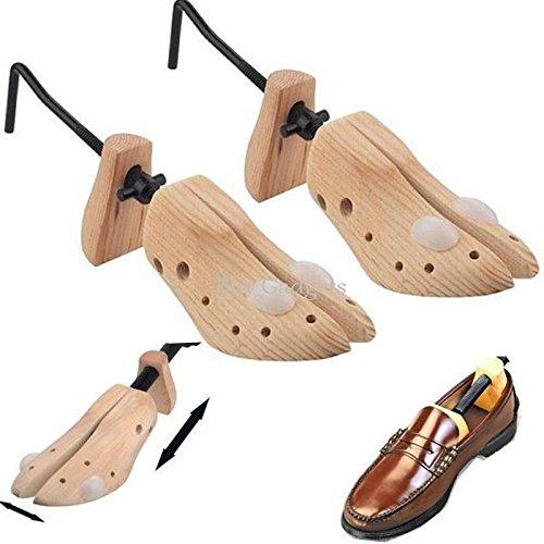 Lot de 2 élargisseurs de chaussure pour homme, en bois, pour éviter les ampoules et oignons, taille 40-46