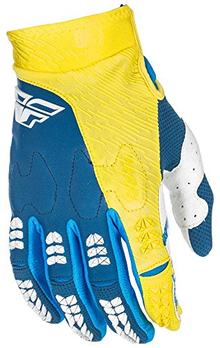 Evolution Race Handschuhe (Fly Racing Evolution 2.0 Motocross Mountainbike Handschuhe, navy-gelb, Größe: 12, MX Glove MTB BMX Dirt Downhill)