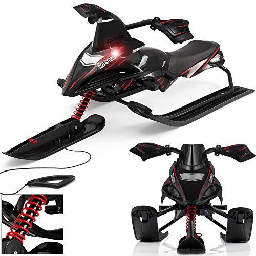Monzana® Luge KJ-5000 à direction pour enfants 2 freins 3 niveaux course traineau bobsleigh