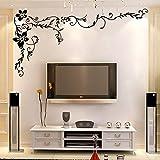 PeiTrade Ka To Bedroom Living Room Sofa Tv Background Wall Sticker Art Decal Home Room Decor Office Wall Mural Wallpaper Art Sticker Decal Paper Mural for Home Bedroom