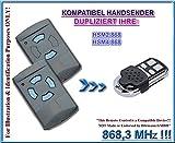 Hörmann HSM2 868 / Hörmann HSM4 868 kompatibel handsender, klone fernbedienung, 4-kanal 868.3Mhz fixed code. Top Quali