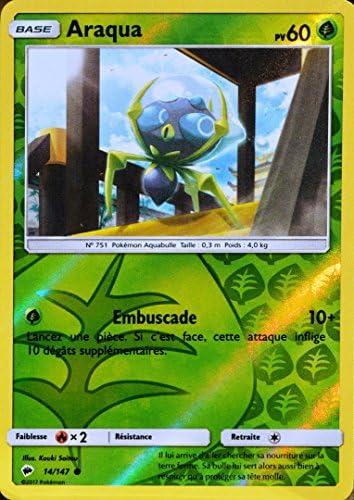 carte Pokémon 14/147 Araqua Araqua 14/147 60 PV - REVERSE B076GJ8BPC 73629f