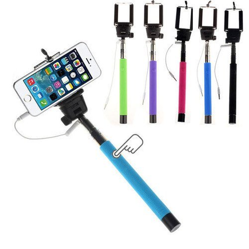 AT Shopping AUX Selfie Stick/Rod Expandable upto 29 Inches Compatible For RAGE Gre Mobile Phone - (Color May Vary-1Pc)  available at amazon for Rs.219