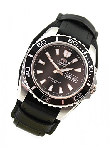Orient Herren-Armbanduhr Taucheruhr Automatik WCC Leder-Unterlegband CEM75001B