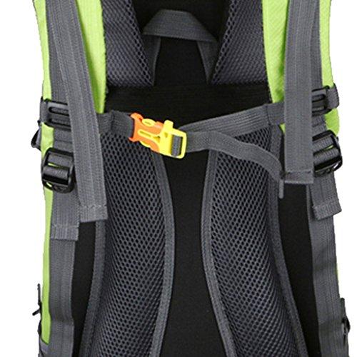 MagiDeal 50L Grande Zaino da Escursionismo Corsa Sport Campeggio Outdoor Bagagli Backpack - Nero Verde