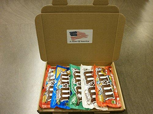 American M&M's Gift Set - Chocolate Hamper - peanut butter, mint, pretzel, white chocolate m&ms, American Candy Hamper