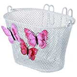 Basil Jasmin Schmetterlingskorb - Kinderfahrradkorb (Weiss)
